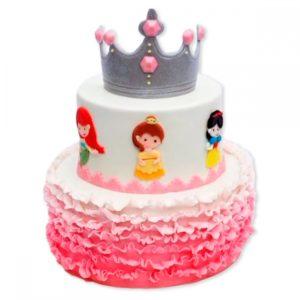 Торт принцесса с короной